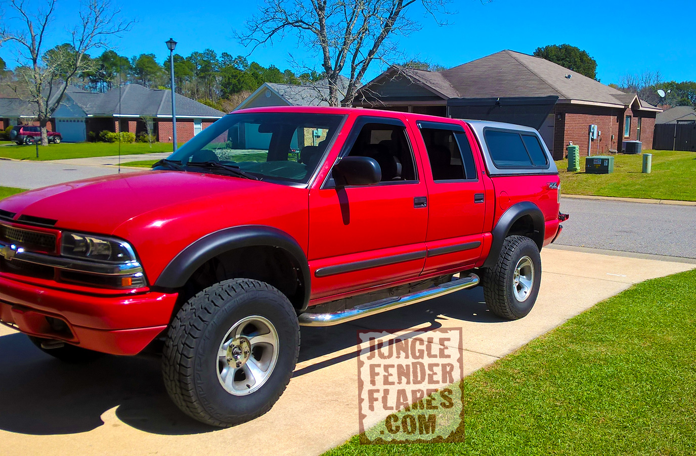 chevrolet s10 crew cab with zr2 style jungle fender flares jungle fender flares best 4x4 flares. Black Bedroom Furniture Sets. Home Design Ideas